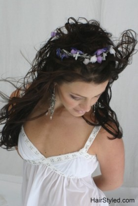 Stunning styled wedding hair